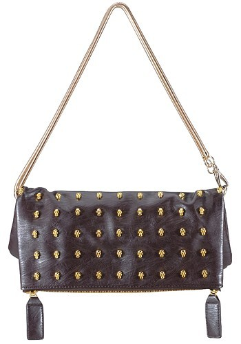 Pirates Attack Large Brown Pochette Clutch Bag