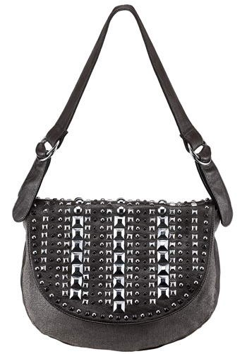The Last Samurai Studded Brown Shoulder Bag