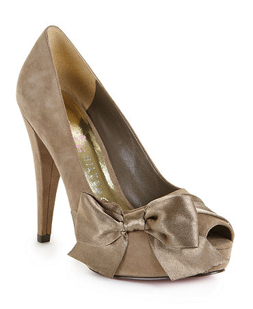 Paris Hilton Destiny Ribbon Pumps In Coffee Color