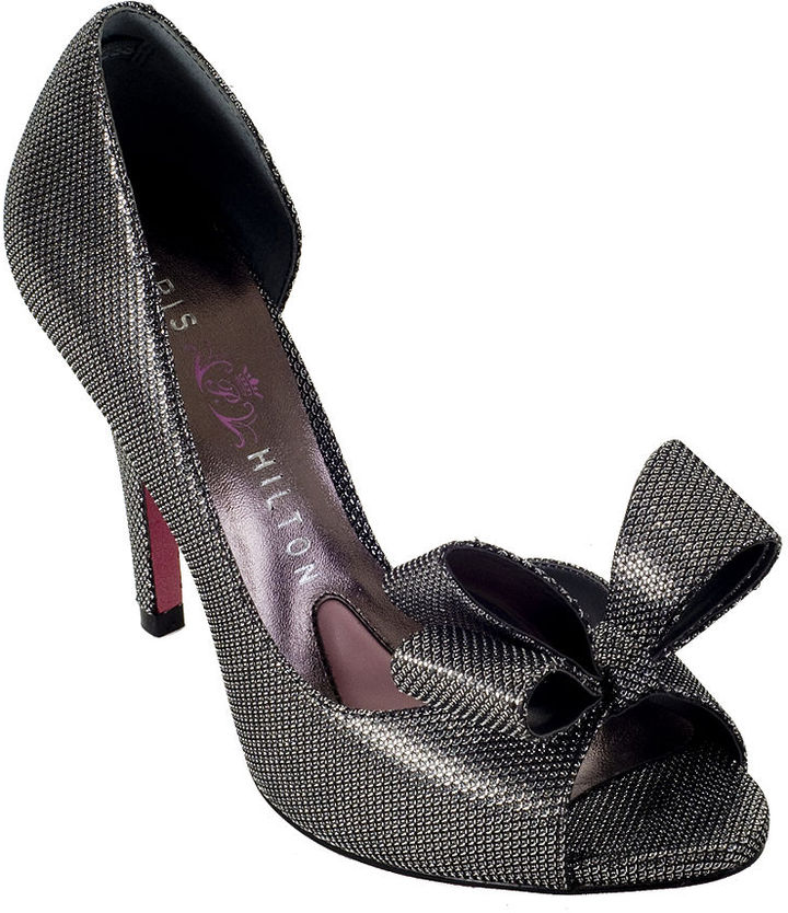 Paris Hilton Senorita Ribbon Pumps In Pewter Ice Color