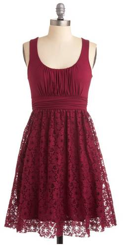 Raspberry Lace Dress