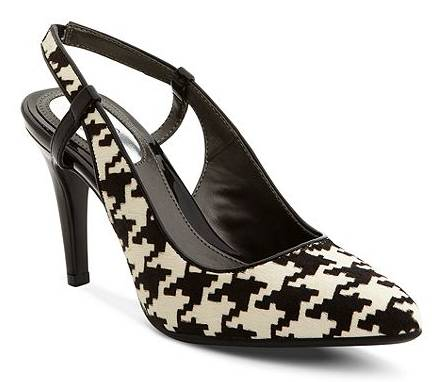 Alfani Hounds Tooth Slingback Pumps