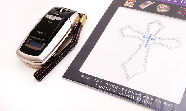 Korean Fashion Cell Phone Rhinestone Stickers