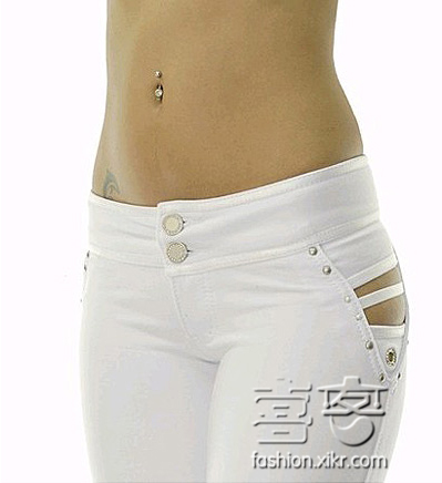 Korean Fashion G-String Jeans