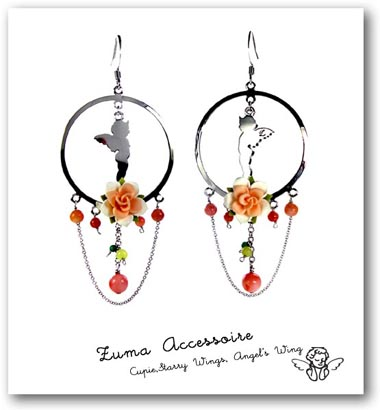 Korean Jewelry Flower Drop Earrings