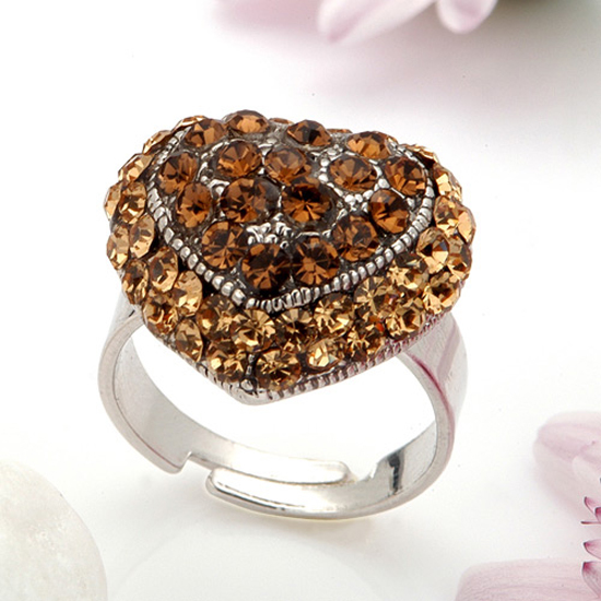 Korean Jewelry Rings Made With Rhinestones