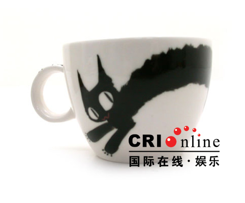 Porcelain Cups With Cat Graphics Drawings | Korean Fashion Lifestyle Items