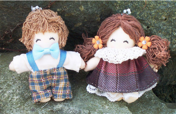 Korean Handmade Cotton Couple Dolls | Korean Fashion Lifestyle Items